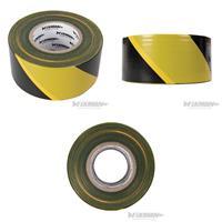 Absperrband, 70 mm x 500 m, schwarz-gelb (9299535350)