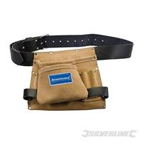 Werkzeug- und Nageltasche aus Leder, 8 Fächer, 260x230 mm, Werkzeugtasche, Werkzeuggürtel, Tragetasche (9299675030)