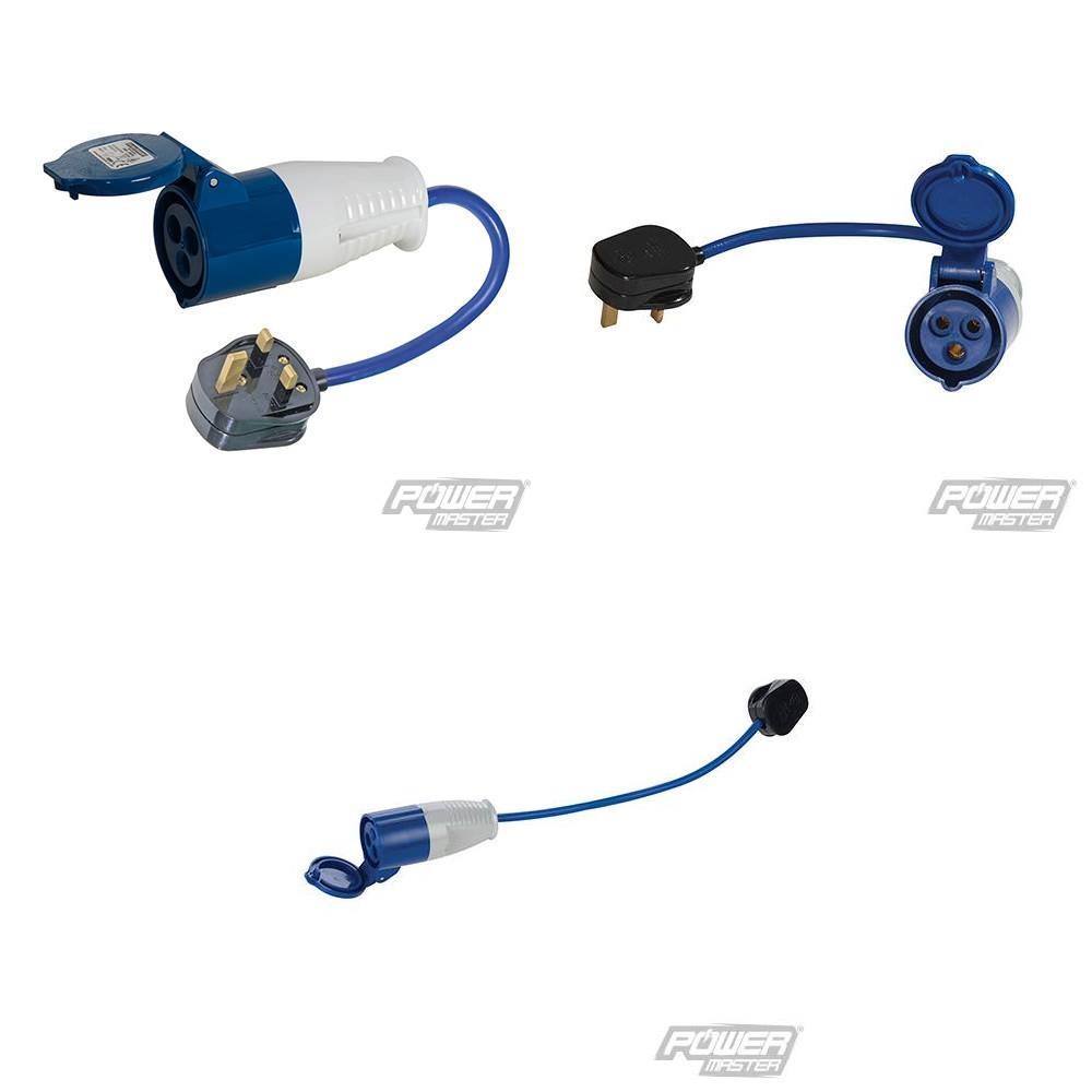 Adapterkabel, 13-A/16-A, UK 13-A-Stecker auf 16-A-CEE, Camping, Caravan (9299818738)