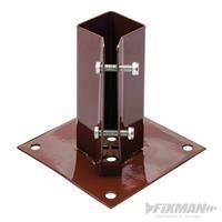 Pfostenträger, Aufschraubhülse, 50x50 mm, Zaunträger, Pfostenanker (9299926988)