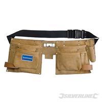 Werkzeuggürtel mit Doppeltaschen, 8 Fächer 300x200 mm, Werkzeugtasche, Tragetasche, Tragegürtel (929999990008)