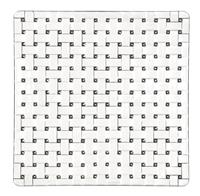 Nachtmann Bossa Nova; Platte quadratisch 21 cm 2-tlg. Set (93090097632)