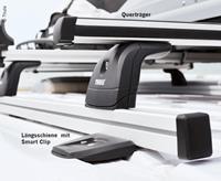 2 Längsschienen aus Aluminium inklusive Montagekit für Dachträger mit Markisenpaket Ducato, Höhe 2m Länge 4m (932941105)