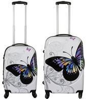 Kofferset 2tlg Butterfly Größen: 68cm / 58cm, Aussenmaterial 100% Polycarbonat (933932014)