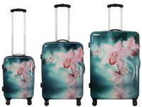 Kofferset 3tlg Orchidee Größen: 74cm / 64cm / 54cm, Außenmaterial 100% Polycarbonat (933935509)