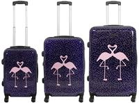 Kofferset 3tlg Flamingo Größen: 77cm / 67cm / 57cm, Außenmaterial 100% Polycarbonat (933937666)