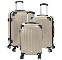 Kofferset 3tlg Avalon 2 / Farbe chamapgner Größen: 78cm / 66cm / 56cm, ABS-Kunststoff (933937972)
