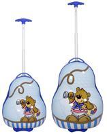 Kinderkofferset 2tlg Bär blau Größen: 54cm / 41cm, Außenmaterial 100% Polycarbonat (933937974)