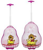 Kinderkofferset 2tlg Bär pink Größen: 54cm / 41cm, Außenmaterial 100% Polycarbonat (933937975)
