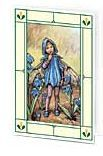 24er Pack Fee Grußkarte Flower-Fairy-Minikarte Blaustern bunt Bildkarten (9359217105050)