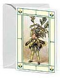 24er Pack Fee Grußkarte Flower-Fairy-Minikarte Buchsbaum bunt Bildkarten (9359217116050)