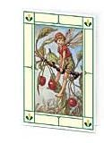 24er Pack Fee Grußkarte Flower-Fairy-Minikarte Kirsche bunt Bildkarten (9359217132050)