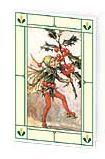 24er Pack Fee Grußkarte Flower-Fairy-Minikarte Stechpalme bunt Bildkarten (9359217135050)