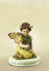 Black Medick Flower Fairy Fee Girl 8cm (9359217214)
