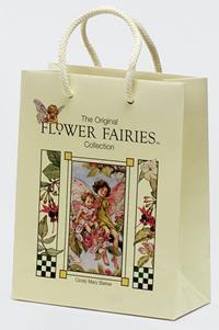 20er Pack Fee Tüte Flower-Fairy-Tragetasche Apfelblüte 18x9x23cm bunt Deko Tasche Papier (9359217291050)