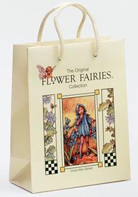 20er Pack Fee Tüte Flower-Fairy-Tragetasche Blaustern 18x9x23cm bunt Deko Tasche Papier (9359217292050)