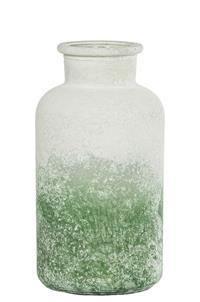 12er Pack Karaffe Glaskaraffe 10,5x20cm weiß-grün Dekoration Flasche (9359941201108)