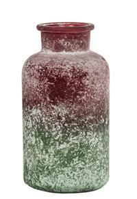 12er Pack Karaffe Glaskaraffe 10,5x20cm grün-rot Dekoration Flasche (9359941201805)
