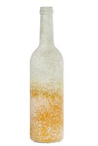 12er Pack Flasche Glasflasche 7x29,5cm hellgelb Dekoration (9359941204201)