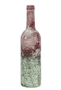 12er Pack Flasche Glasflasche 7x29,5cm grün-rot Dekoration (9359941204805)