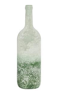 12er Pack Flasche Glasflasche 10x34,5cm weiß-grün Dekoration (9359941205108)