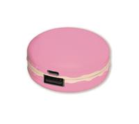 Charger MACARON 2400, Fraise rose mit Verpackung / with packing + Adapter (9489373120239)