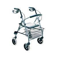 Leichtgewichts - Rollator Gigo aus Aluminium, mit Korb, Grau von Drive Medical (9499105024)