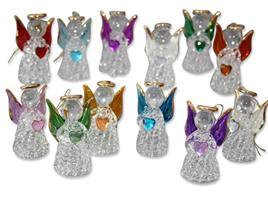12er Pack Glas-Engel mit bunten Herzen stehend/hängend 5 cm (9519319205986)
