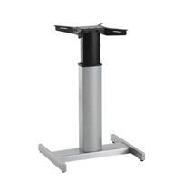 Elektrisch Verstellbarer Mono Säulentisch Stehpult Schreibtisch, silber (9569100