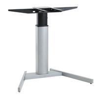Elektrisch Verstellbarer Mono Säulentisch Stehpult Schreibtisch, silber (9569100002)