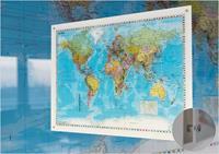 Design Weltkarte (englisch) auf Acrylglas, 140 x 100 cm (97091270097144)