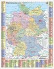 Deutschlandkarte Deutschland politisch und Autokennzeichen, 67 x 87 cm als Poster (9709869610207)