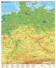 Deutschlandkarte Deutschland physisch , 97 x 119 cm als Poster (9709869610344)