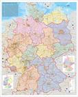 Deutschlandkarte Deutschland Organisationskarte, 97 x 119 cm als Poster (9709929627589)