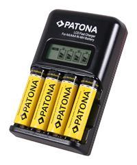 PATONA Schnell-Ladegerät Mignon AA / Micro AAA Akkus LCD-Display  (97191992)