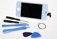 Apple iPhone 4s LCD LC Display Komplettset weiß inkl. Werkzeugset  (97197004)