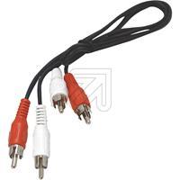 EGB Cinch-Kabel 2xStecker/2xStecker 0,5 m (9829295290)