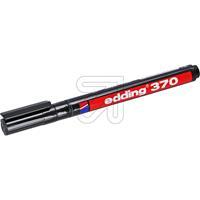 10er Pack Edding 370 Permanent-Marker, schwarz 1, (9829758015)