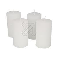 4er Pack Stumpenkerze 100x60mm weiß Set (9829834475)
