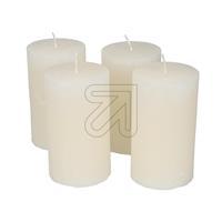 4er Pack Stumpenkerze 120x70mm creme Set (9829834490)