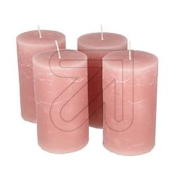 4er Pack Stumpenkerze 120x70mm rosenholz Set (9829834500)