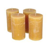 4er Pack Stumpenkerze 120x70mm honig Set (9829834540)