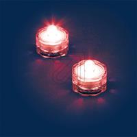 Außen-Teelichter IP68 2-er Set rot 06812 schwimmfähig (9829848055)