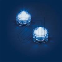 Außen-Teelichter IP68 2-er Set blau 0684 schwimmfähig (9829848060)