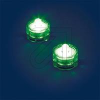 Außen-Teelichter IP68 2-er Set grün 0686 schwimmfähig (9829848065)