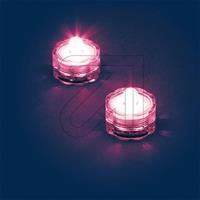 Außen-Teelichter IP68 2-er Set pink 0683 schwimmfähig (9829848070)