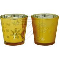 2er Pack Teelicht-Glas Set gold (9829868205)