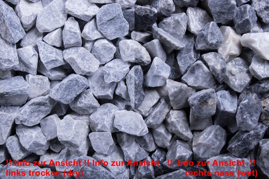250 Kg Kristall Blau 16-32mm, Edelsplitt - gebrochen im Big Bag (9879000205)