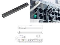 Bachmann 19 Zoll Steckdosenleiste 6x Schutzkontakt Gerätevollschutz 1HE (333.536) (9969102000)