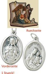 Heilige Familie im Buch, Höhe 11cm,  mit einem Anhänger Herz Jesu 2,5cm (4494411024)